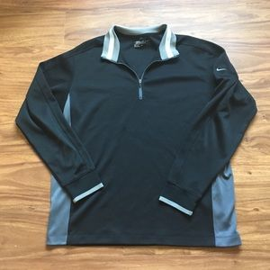 Black Nike quarter zip fleece